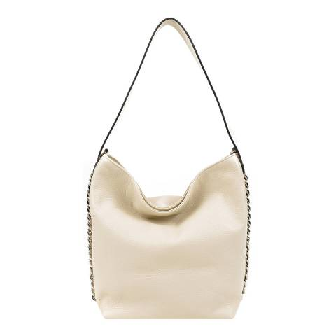 Luisa Vannini Beige Leather Shoulder Bag