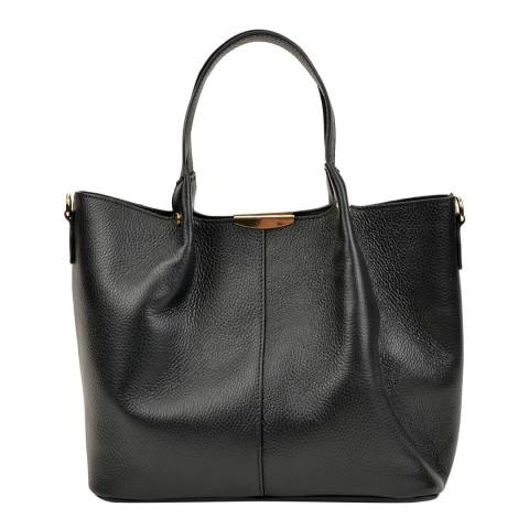 Carla Ferreri Black Leather Handbag