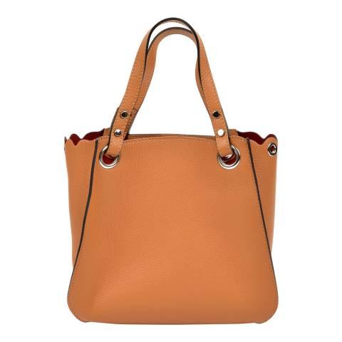 Luisa Vannini Brown Leather Tote Bag
