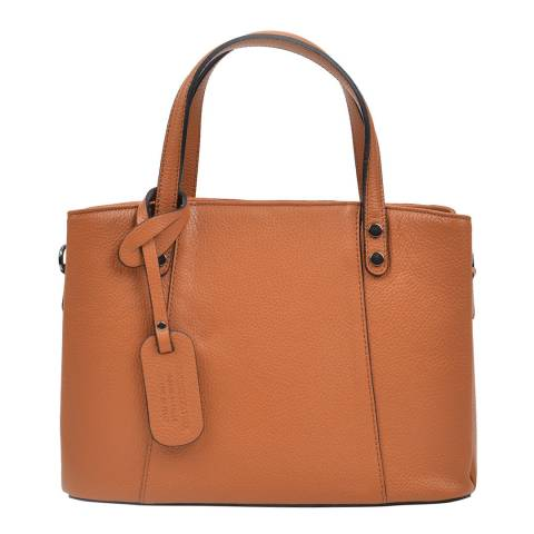 Anna Luchini Brown Top Handle Bag