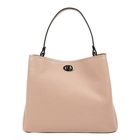 Luisa Vannini Cream Leather Tote Bag