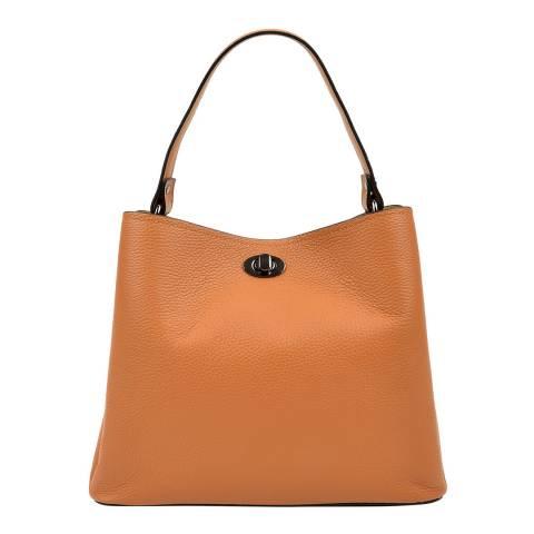 Luisa Vannini Brown Leather Tote Bag