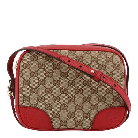 Gucci Women's Red/Beige Gucci Crossbody Bag