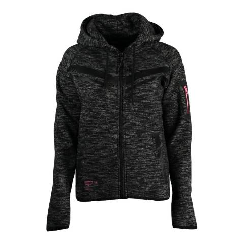 Geographical Norway Black Fluence Hoodie