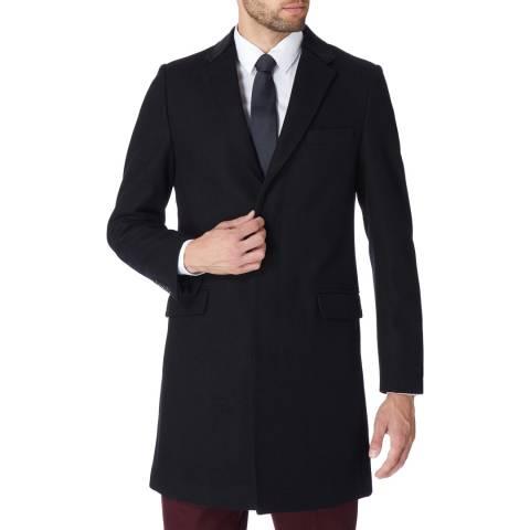 Gianni Feraud Black Harry Wool Blend Overcoat