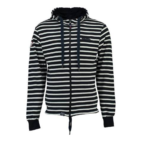 Geographical Norway Navy/White Gennaro Cotton Hoodie
