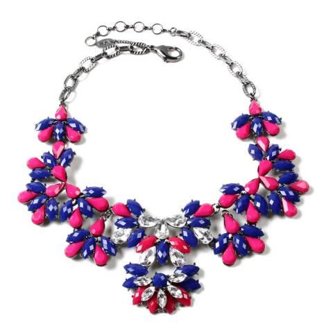 Amrita Singh Lapis/Fuschia Crystal Necklace
