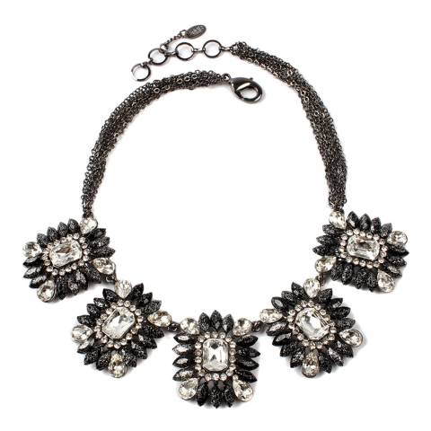 Amrita Singh Black/Gunmetal Crystal Necklace