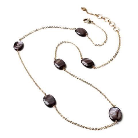 Amrita Singh Gold/Black Shell Stone Necklace