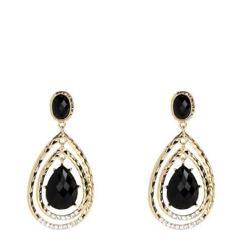 Amrita Singh Jet Black Crystal Earrings