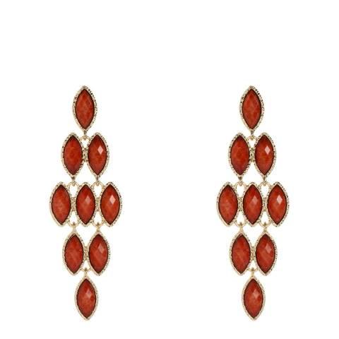 Amrita Singh Coral Crystal Earrings
