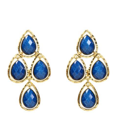 Amrita Singh Lapis Crystal Earrings