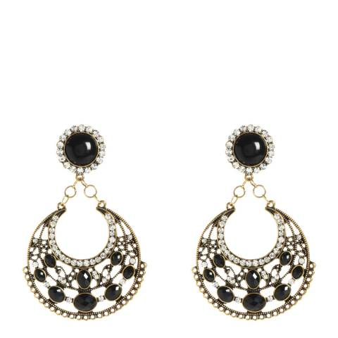Amrita Singh Jet Black Crystal Earrings