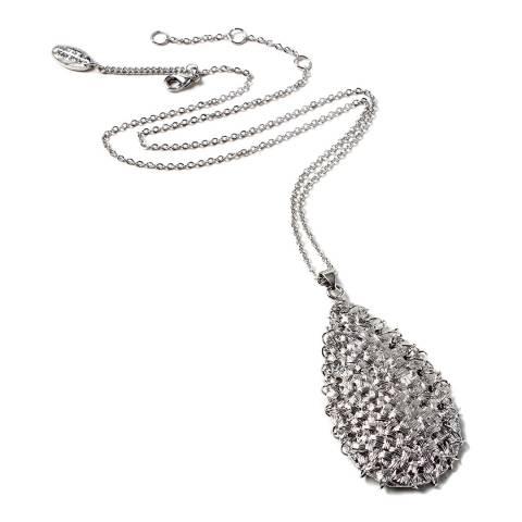 Amrita Singh Silver Woven Pendant Necklace