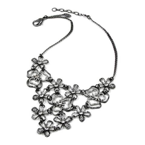 Amrita Singh Gunmetal/Clear Crystal Necklace