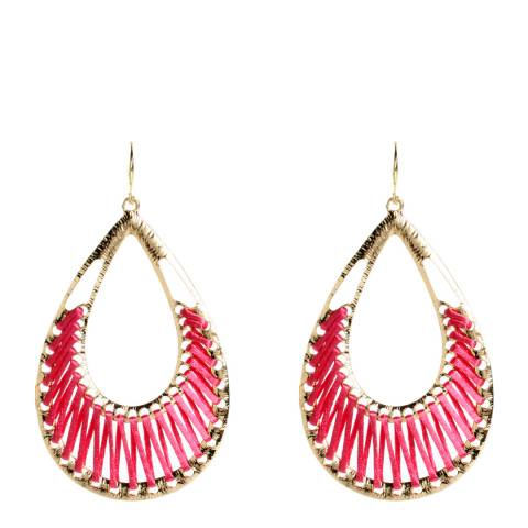 Amrita Singh Fuschia Net Earrings