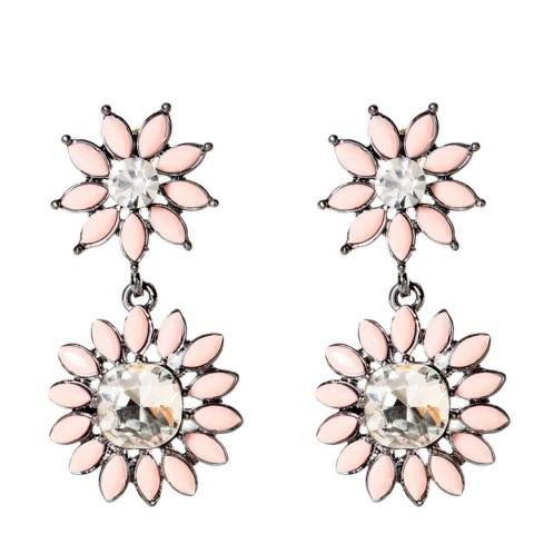 Amrita Singh Peach Crystal Earrings