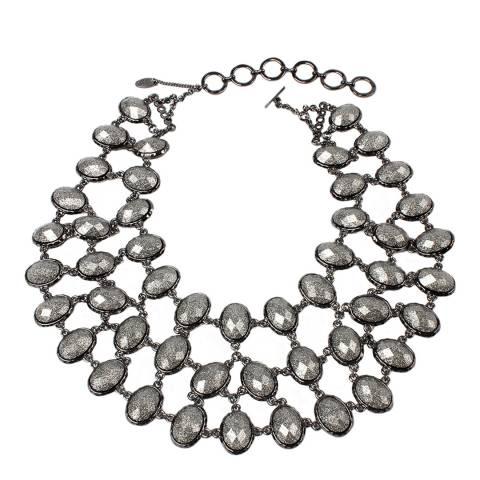 Amrita Singh Gunmetal Chunky Necklace