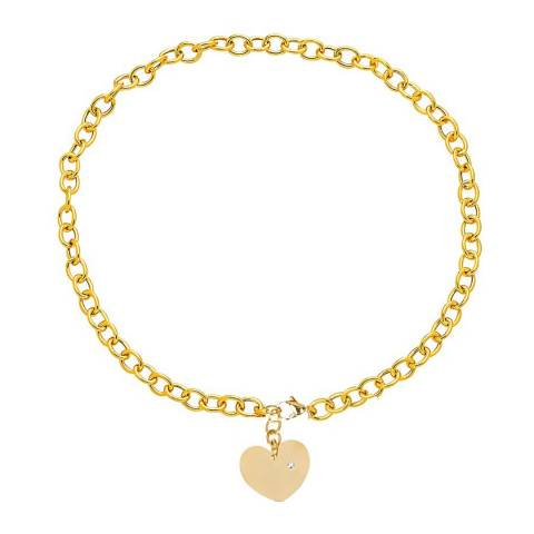 Chloe Collection by Liv Oliver Gold Heart Charm Necklace