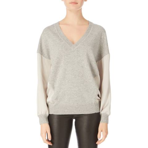 Amanda Wakeley Pebble V Neck Cashmere Blend Jumper