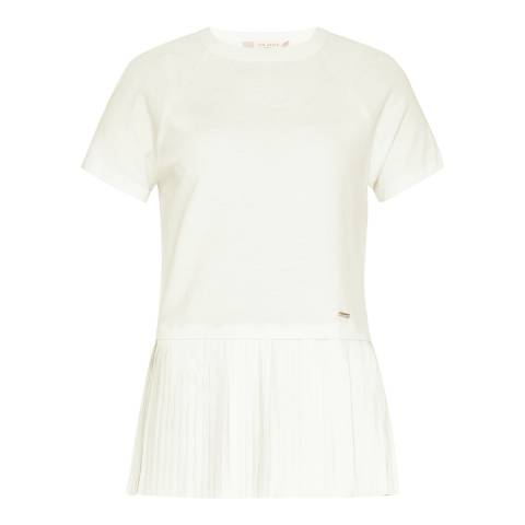 Ted Baker White Gutai Crop Knit Top