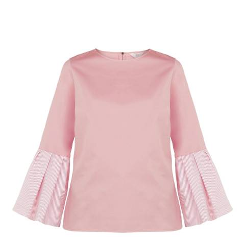 Ted Baker Pink Jesieh Stretch Cotton Top