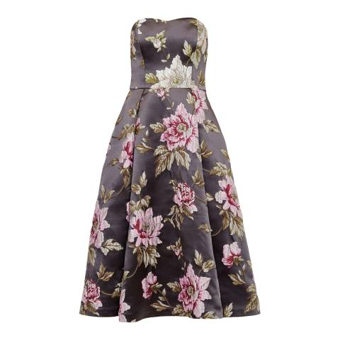 Ted Baker Multi Bernica Floral Strapless Dress