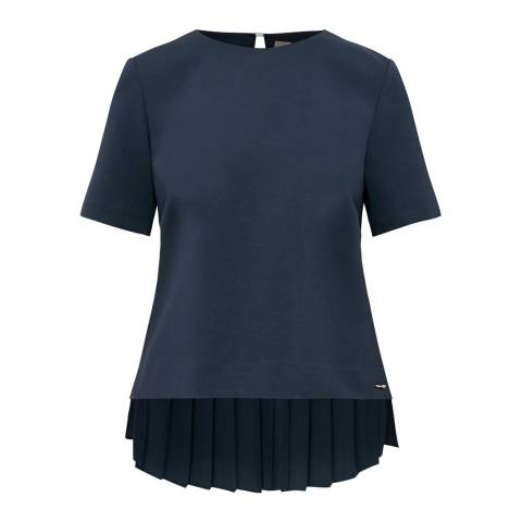 Ted Baker Navy Naevaa Pleat Back Top
