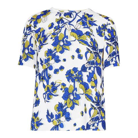Ted Baker White Sophee Floral Top