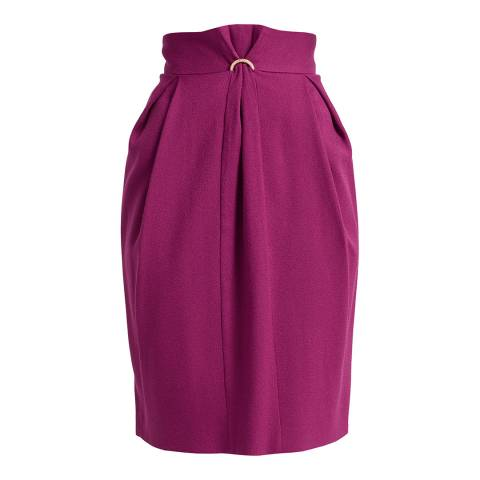 WTR London Magenta Fokine Midi Skirt