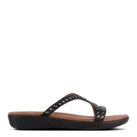 FitFlop Black Strata Slide Sandal