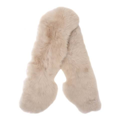 Laycuna London Luxury Natural Sheepskin Scarf
