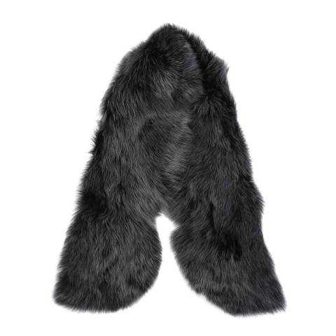 Laycuna London Luxury Grey Sheepskin Scarf