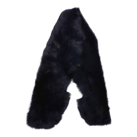 Laycuna London Luxury Navy Sheepskin Scarf