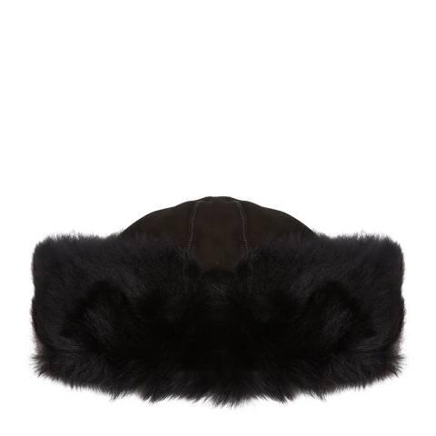 Laycuna London Luxury Black Sheepskin Hat