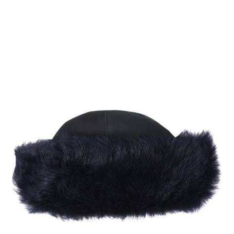 Laycuna London Luxury Navy Sheepskin Hat