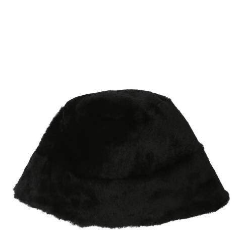 Laycuna London Luxury Black Sheepskin Bucket Hat