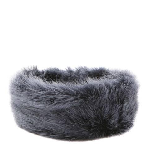 Laycuna London Luxury Navy Sheepskin Headband