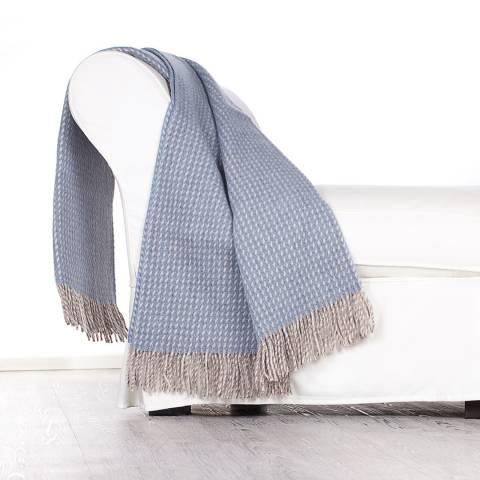 Lanerossi Svezia Virgin Wool Throw 130x180cm, Light Blue