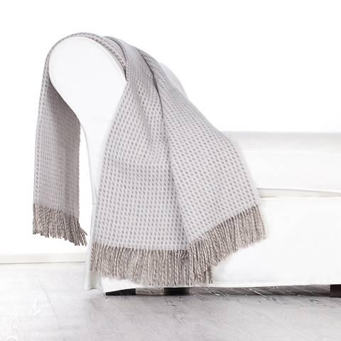 Lanerossi Svezia Virgin Wool Throw 130x180cm, Grey