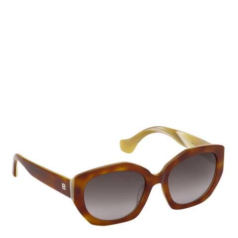 Balenciaga Women's Caramel Balenciaga Oval Sunglasses 55mm