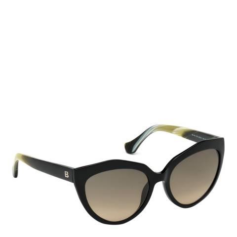 Balenciaga Women's Black/Yellow Balenciaga Cat Eye Sunglasses 56mm