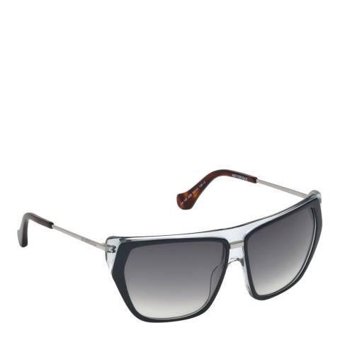 Balenciaga Women's Black/Clear Balenciaga Square Sunglasses 58mm