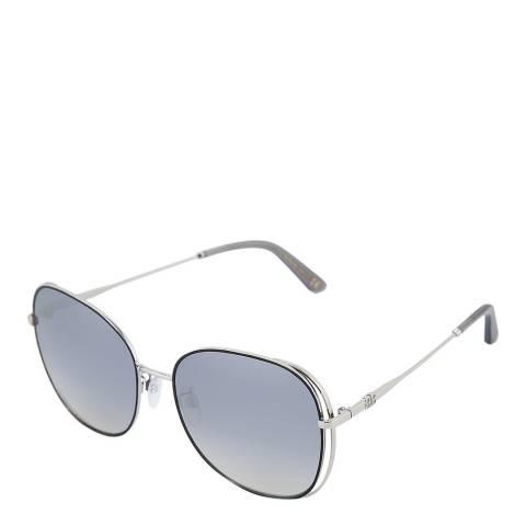 Balenciaga Women's Silver Balenciaga Round Sunglasses 57mm