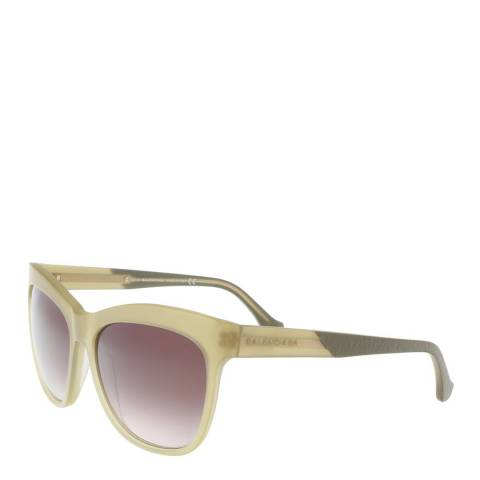 Balenciaga Women's Beige Balenciaga Square Sunglasses 59mm
