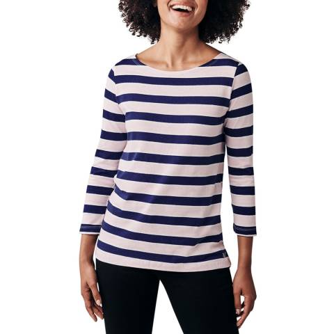 Crew Clothing Pink/Navy/Vanilla Cassie Multi Stripe