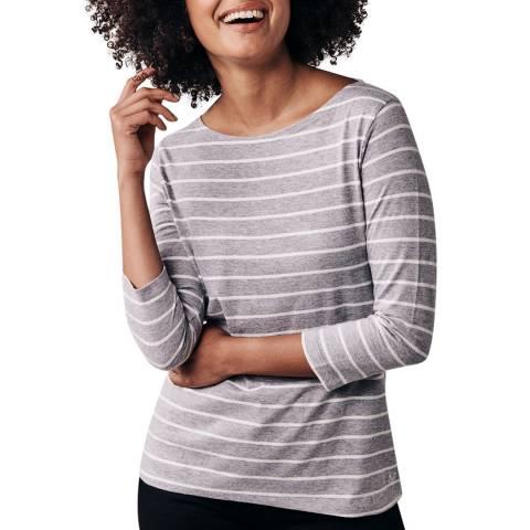 Crew Clothing Grey/Vanilla Cassie Stripe