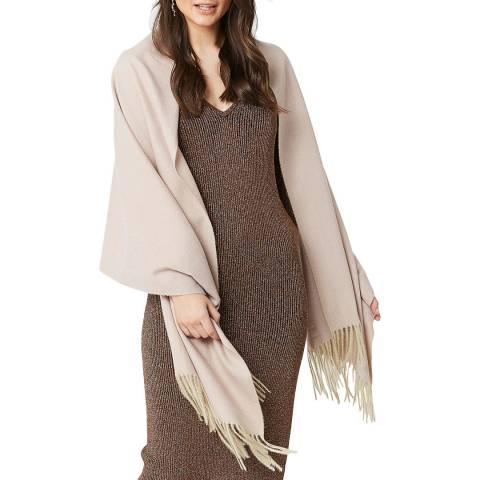 JayLey Collection Mocha Cashmere Blend Wrap
