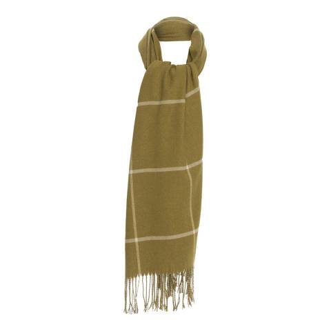JayLey Collection Mustard Check Cashmere Blended Wrap