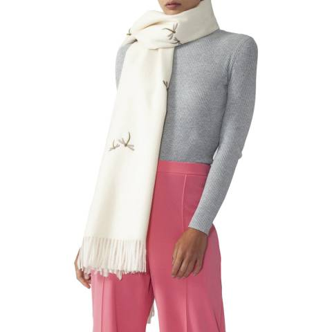 JayLey Collection Cream Cashmere Blend Dragonfly Wrap